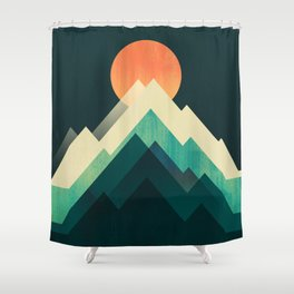 Ablaze on cold mountain Shower Curtain