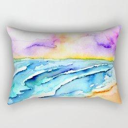 violet clouds - beach at sunset Rectangular Pillow
