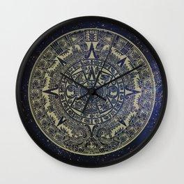 Ancient Aztec Calendar Wall Clock