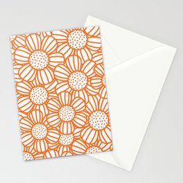 Field of daisies - orange Stationery Cards