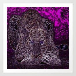 Valentino Leopard Art Print
