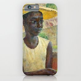 African American Masterpiece 'Ancilla with an Orange' by Dod Procter iPhone Case