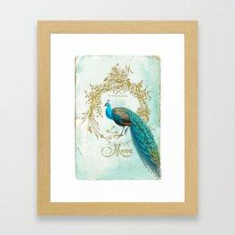 Peacock Mode Framed Art Print