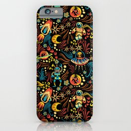 Russian Khokhloma Sci-Fi iPhone Case