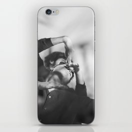 Woman and man, dancers, black and white iPhone Skin