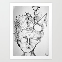 Heavy With Thought Art Print