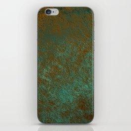 Green Patina Copper rustic decor iPhone Skin