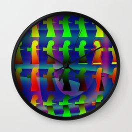 Disruptive element Wall Clock