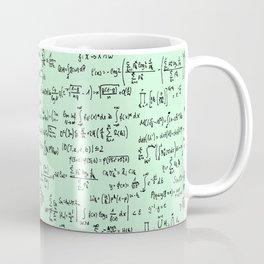 Math Equations // Light Green Coffee Mug