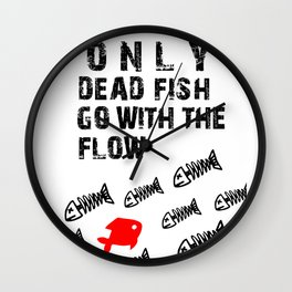 only dead fish Wall Clock