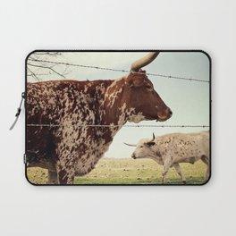Texas Longhorn Cattle Laptop Sleeve