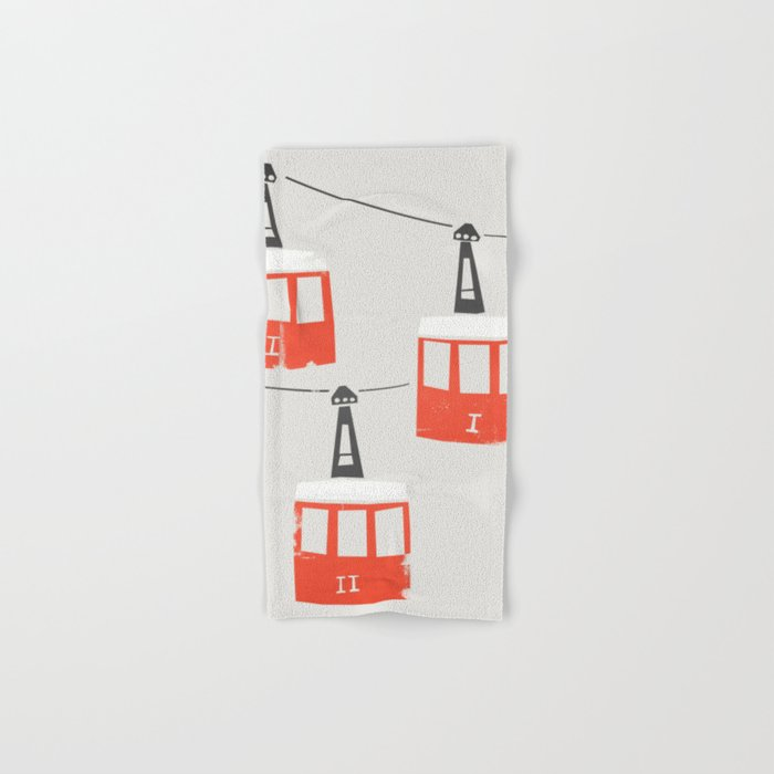 Barcelona Cable Cars Hand & Bath Towel