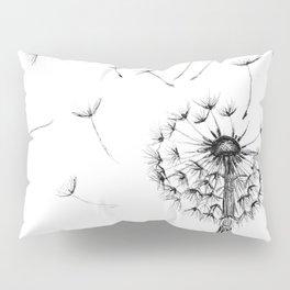 Dandelion Ink Drawing Pillow Sham