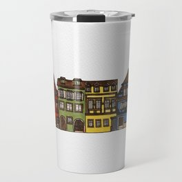 Colorful Riquewihr Houses Side-by-Side Travel Mug