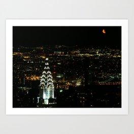 Mooning New York City Art Print