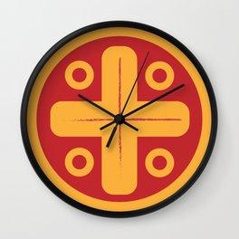 Aztec Gold Wall Clock