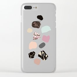 HOT PEBBLES Clear iPhone Case