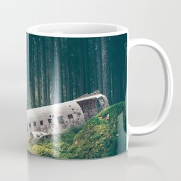 Surreal Iceland Plane Crash-Sólheimasandur Plane Crash in a Swedish Forest Coffee Mug