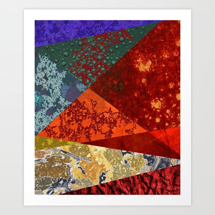 Abstract #300 Oxidation Art Print