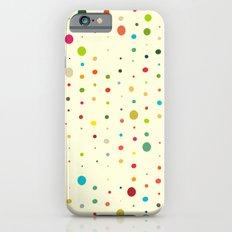 retro rain spots cream iPhone 6s Slim Case