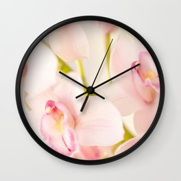 Orchid Flower Bouquet On A Light Background #decor #society6 #homedecor Wall Clock