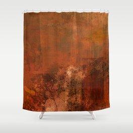 Organic rust Shower Curtain