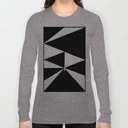 Triangles in Black and White Long Sleeve T-shirt