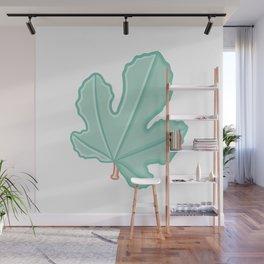 Minimalist Fig Tree Leaf Illustration Wall Mural