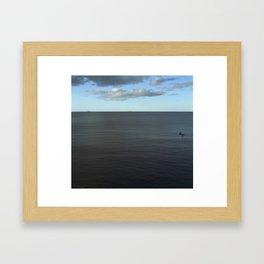 Afternoon Seascape Framed Art Print