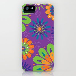 Psychoflower Purple iPhone Case