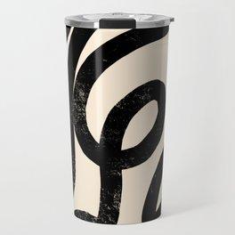 Cream Snake Travel Mug