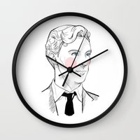 gentleman Wall Clocks featuring Gentleman by Sara E. Mayhew
