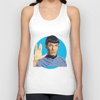 spock Tank Tops featuring Spock by Connor Corbett