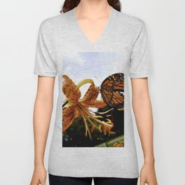 The Butterfly Has Landed Unisex V-Neck
