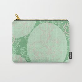Green cercle flower Carry-All Pouch