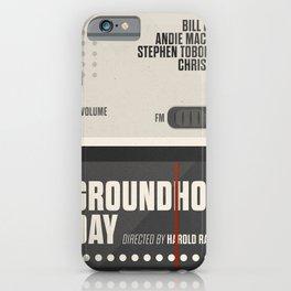 Groundhog Day, Bill Murray, minimalist movie poster, Andie MacDowell, Harold Ramis iPhone Case