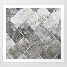 Gray tile Art Print