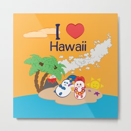 Ernest and Coraline | I love Hawaii Metal Print