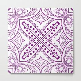 Mindful Mandala Pattern Tile MAPATI 166 Metal Print
