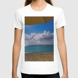 Seaside Under Umbrellas T-shirt