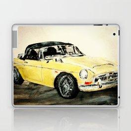MGC 1969 Roadster Classic Sports Car Acrylics On Paper Laptop & iPad Skin