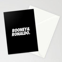 MUFC duo_ ROONEY & RONALDO Stationery Cards
