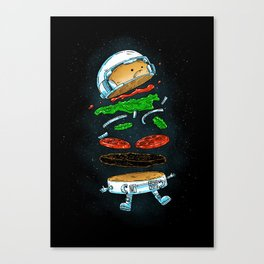 The Astronaut Burger Canvas Print