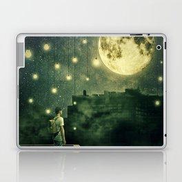 rooftops mystery night Laptop & iPad Skin