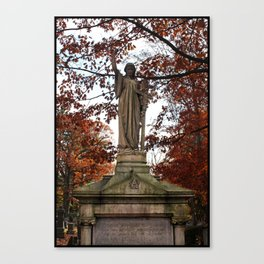 My Lady Among the Leaves Canvas Print