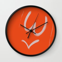 Femme Close Up Wall Clock