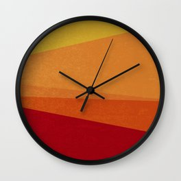 Stripe X Orange Peel Wall Clock