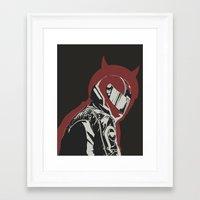 daredevil Framed Art Prints featuring Daredevil by OdhranHampsey