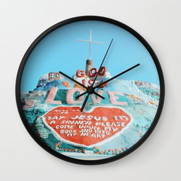 Salvation Mountain Wall Clock