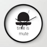chaplin Wall Clocks featuring Chaplin  by MeeNeeMo